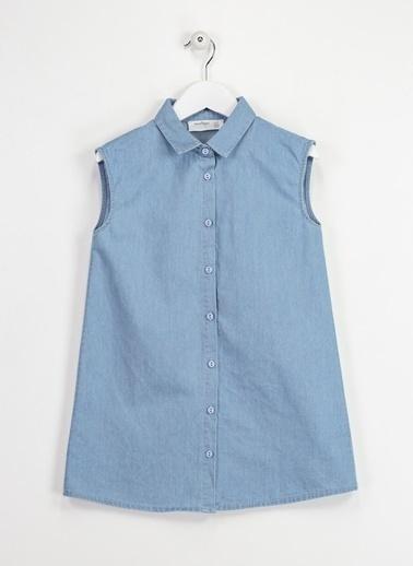 Morhipo Kids Denim Gömlek Elbise İndigo